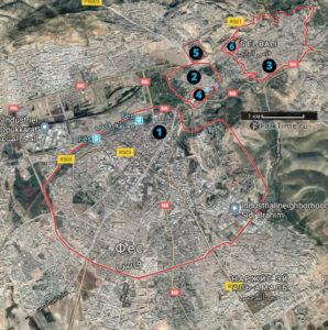 Карта Феса