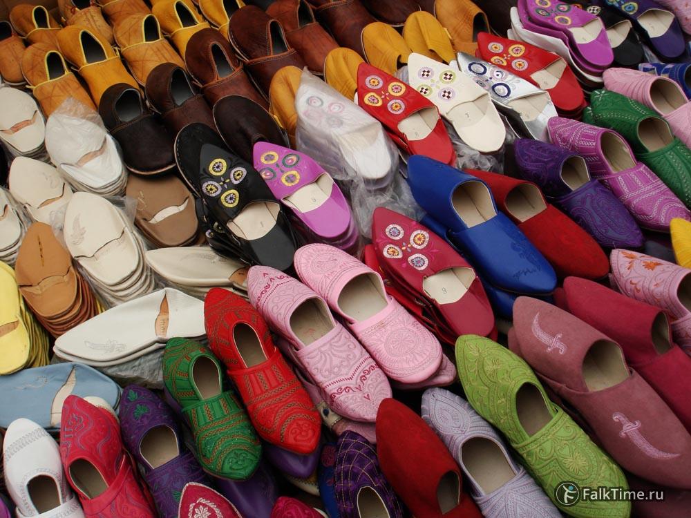 Разноцветные марокканские бабуши