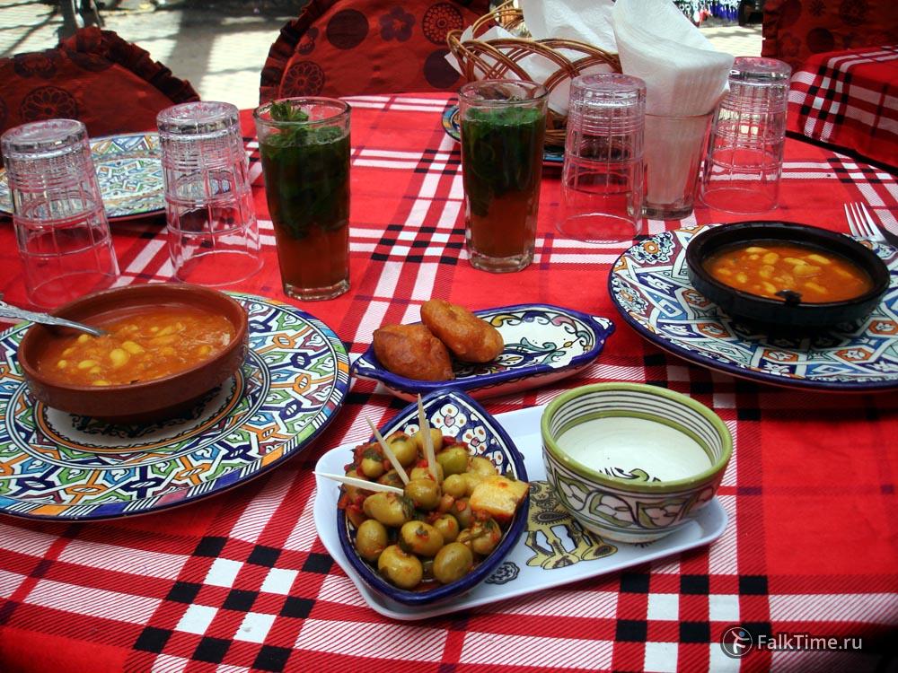 Комплимент от ресторана в Марокко
