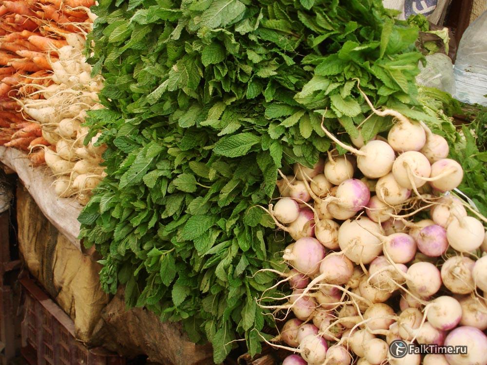 Мята и овощи в Марокко