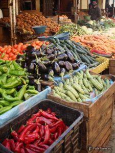 Баклажаны, перцы и прочие овощи в Марокко
