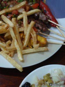 Мергез и картошка фри