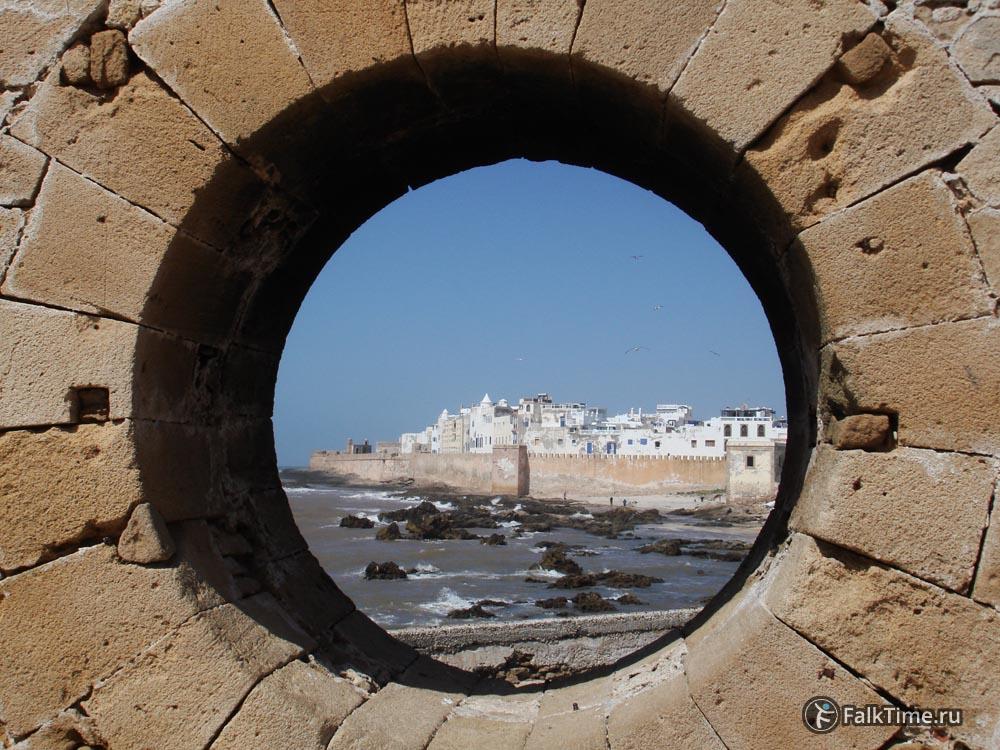Вид на город через дырку