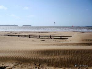 Дюны на пляже Тагарт